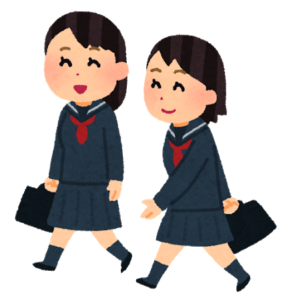 仲良く通学する女の子たち