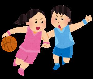 バスケットボールをする女の子たち